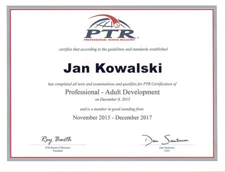 Certyfikat PTR